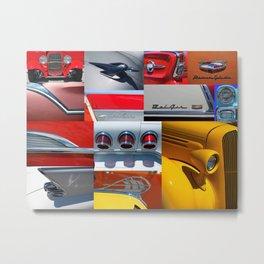 Classic Car Collage Metal Print