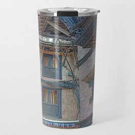 BHAKTAPUR NEPAL BRICKS WINDOWS WIRES Travel Mug