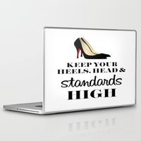 heels Laptop & iPad Skins featuring Heels & Standards by LuxuryLivingNYC