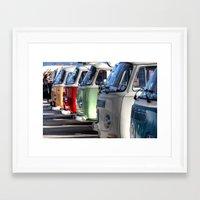 vans Framed Art Prints featuring Hippy Vans by Barbo's Art