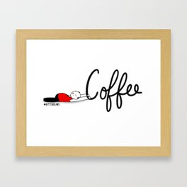 Coffee Save Me... Framed Art Print