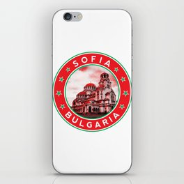 Sofia, Bulgaria, Alexander Nevsky Cathedral, circle, red iPhone Skin