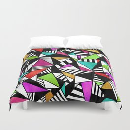 Geometric Multicolored Duvet Cover