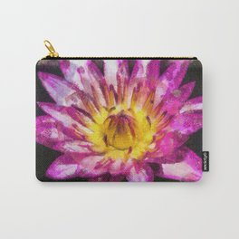 Purple Violet Lotus Flower Art Carry-All Pouch