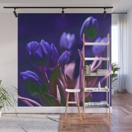 MAGIC BLUE TULIPS Wall Mural