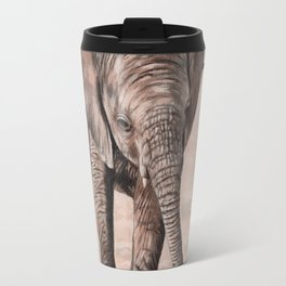 African Elephant Calf Painting Travel Mug
