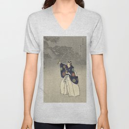 1920s Japanese Art Unisex V-Neck