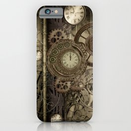 Steampunk, clocks and gears iPhone Case