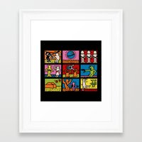 keith haring Framed Art Prints featuring Keith Haring & star W.2 by le.duc
