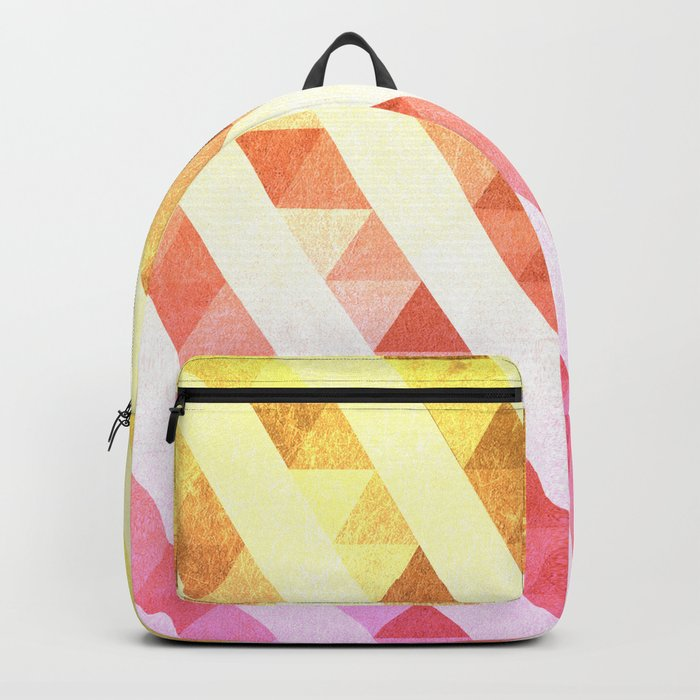 Triangles Lines Pattern Backpack