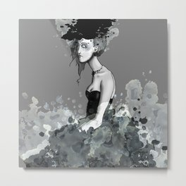 Lady in Lace Metal Print