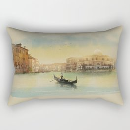 Early morning in Venice Rectangular Pillow