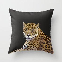 Jaguar At Rest - Big Cat Art Throw Pillow