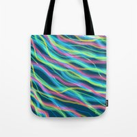 80s Tote Bags featuring 80s Ripple by Beth Thompson