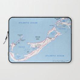 Vintage Map of Bermuda (1976) Laptop Sleeve