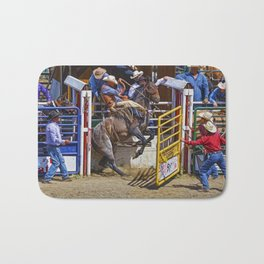 The Release - Rodeo Bronco Riding Bath Mat