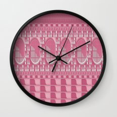 Rose Pink Geometric Abstract Wall Clock