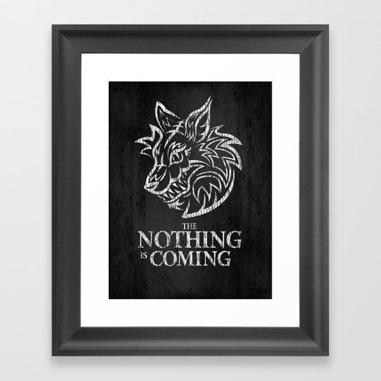The Nothing is Coming  Framed Art Print