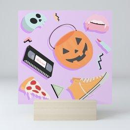 90s Halloween Pumpkin Childhood Print   Mini Art Print