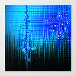 Soundwave Blue Canvas Print