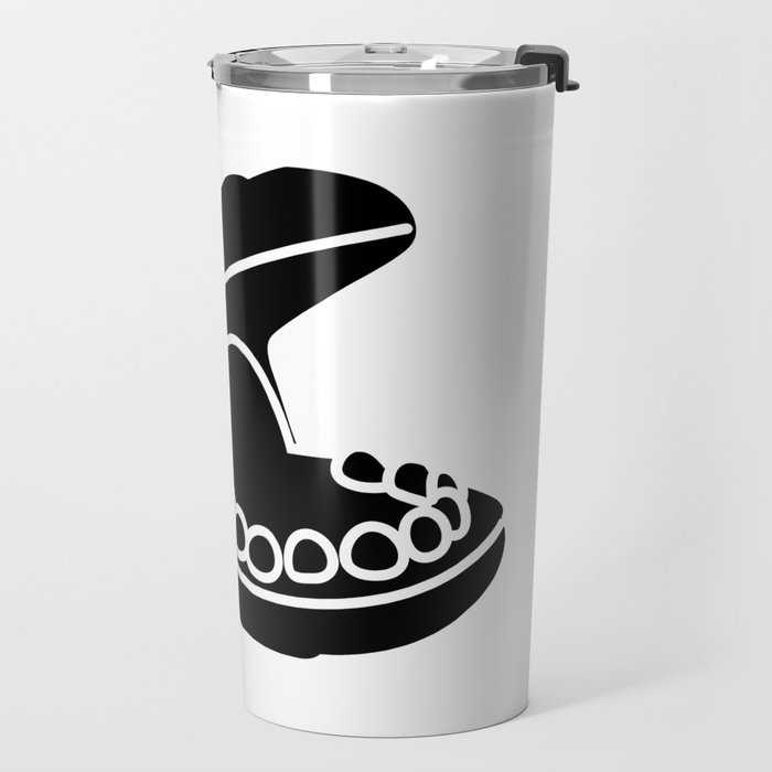 Hungry Hippo Silhouette Travel Mug
