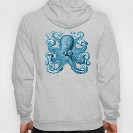 Octopus1 (Blue, Square) Hoody