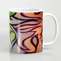 waves Mugs featuring Waves by Aaron Carberry