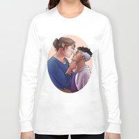 valentines Long Sleeve T-shirts featuring Valentines Sandroid by bilvy
