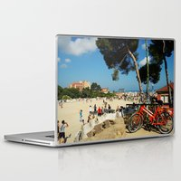 barcelona Laptop & iPad Skins featuring Barcelona by Lesley Bourne