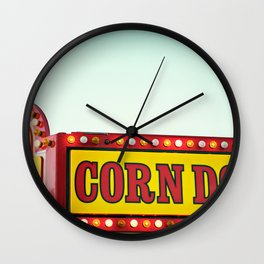 Corn Dogs Wall Clock