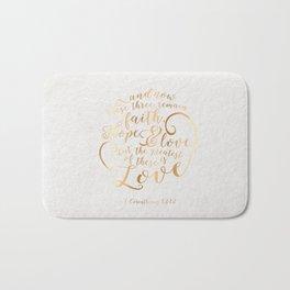 Faith, Hope & Love Bath Mat