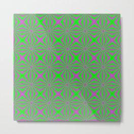 Sunbeams in Green and Pink tiled Metal Print
