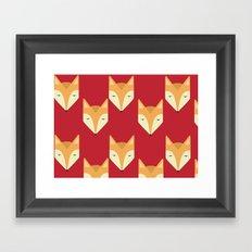 Mr. Fox Pattern Framed Art Print