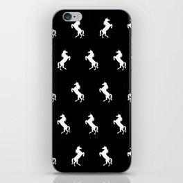 Black And White Unicorns iPhone Skin