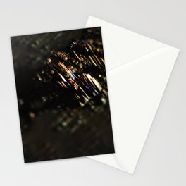 Abstract cityscape aerial view technology background Stationery Cards