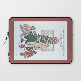 Team Cap Naughty Pinup Holiday Card Laptop Sleeve