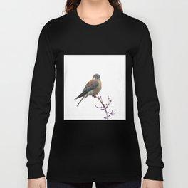 Perched sparrowhawk 8 Long Sleeve T-shirt
