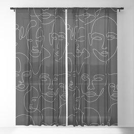 Face Thread Sheer Curtain
