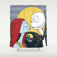 nightmare before christmas Shower Curtains featuring Nightmare Before Xmas by ggburns