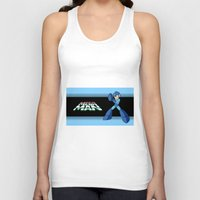 mega man Tank Tops featuring mega man vintage by OverClocked