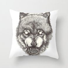 Day wolf Throw Pillow