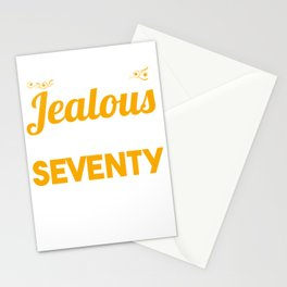 70th Birthday Celebration Gift Don't Be Jealous I Look Good At Seventy 70 Party 1949 Birth Stationery Cards