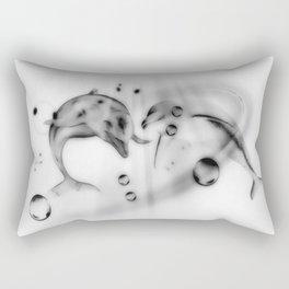 Delphine schwarz-weiß Rectangular Pillow