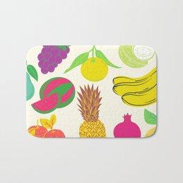 Fruit   White Background  Bath Mat