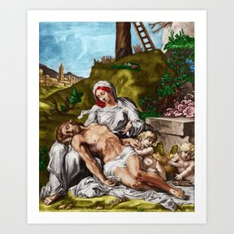 """""""And so it is"""" - The Death of Jesus Landscape Painting by Jeanpaul Ferro Art Print"""