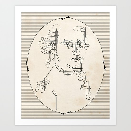 Custom made Mozart Art Print