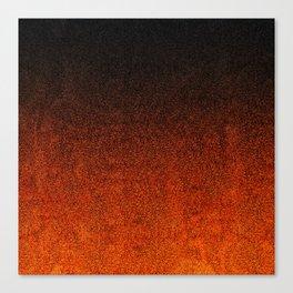 Orange & Black Glitter Gradient Canvas Print