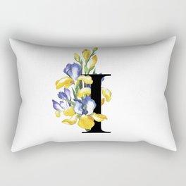 Letter 'I' Iris Rectangular Pillow