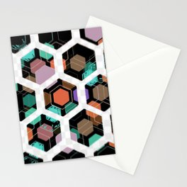 Hex Dive Pattern Stationery Cards