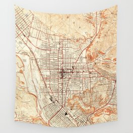 Vintage Map of Glendale California (1928) Wall Tapestry